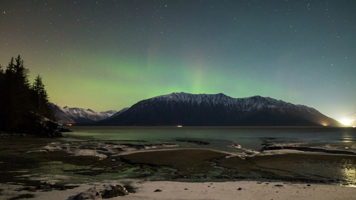 Alaska - Turnagain Arm and the Aurora