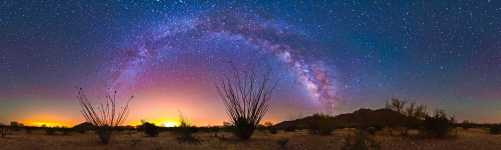 Arizona - Ocotillo - The Coyote Mountains and the Lights of Tucson - 360