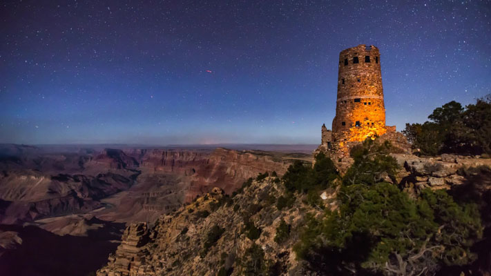Arizona - Grand Canyon NP - Tower View Under the Stars