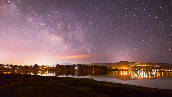 Baywood Park - Lights of Los Osos and the Milky Way - 2 Hour Timelapse