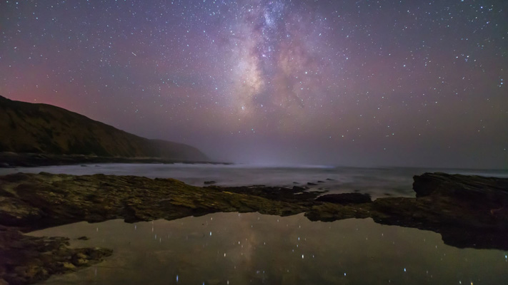 California - Montana de Oro SP - Tidepools an Milky Way