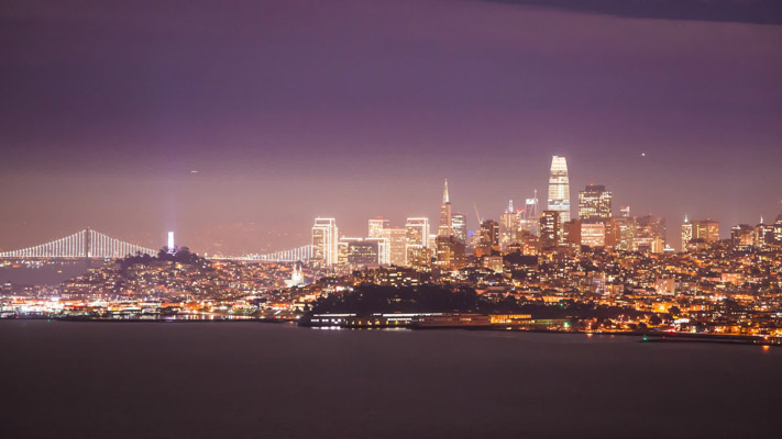 California - San Francisco - Telephoto View
