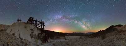 California - Ibex Mine and the Lights of Las Vegas - Death Valley