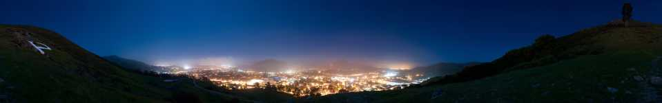 California - Cal Poly Campus - The P on Poly Canyon Nightscape 360