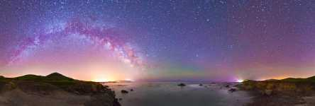 California - Cayucos Point and the Night Sky - 360