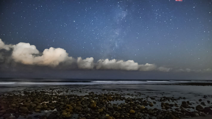 California - Faint Milky Way - At Trestles Beach - Timelapse