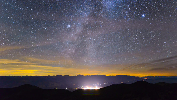 California - Milky Way Sets Over Bishop - Sierras