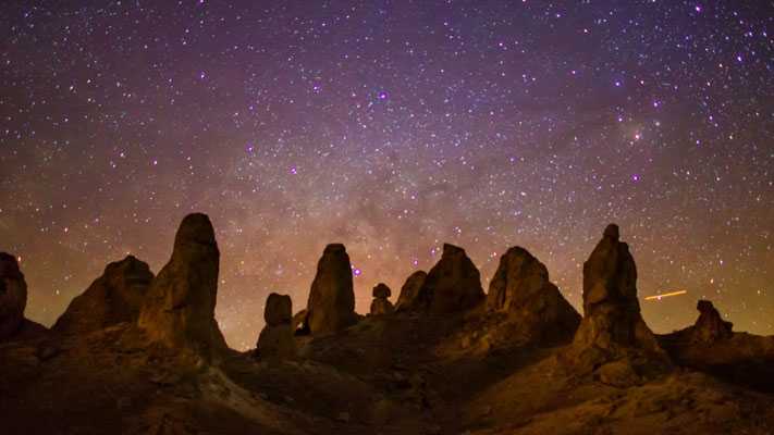 California - Trona Pinnacles and the Milky Way Timelapse
