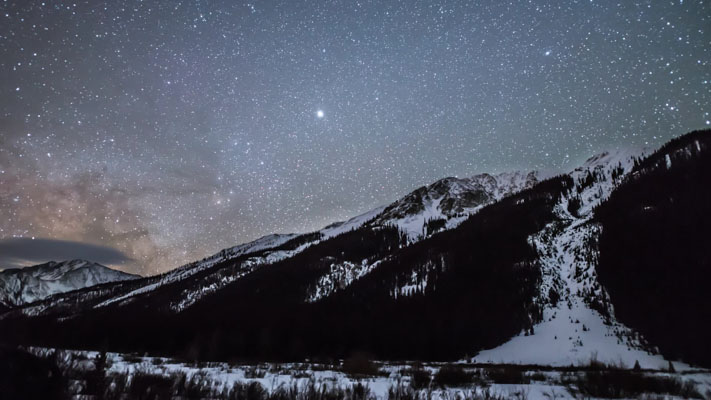 Colorado - Star Mountain and the Milky Way