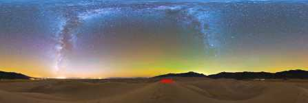 Colorado - Great Sand Dunes NP - Night Sky From High Dune - 360