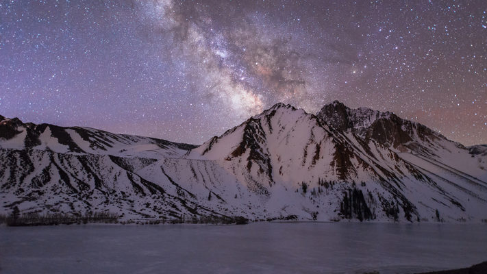 Convict Lake and the Milky Way - 3 Hour Timelapse