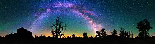 Idaho - Craters of the Moon NM - Milky Way Over Devils Orchard - 360