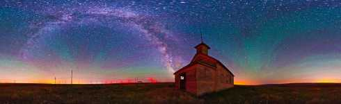 Washington - Dot Schoolhouse - Bickleton HWY - and the Milky Way Starscape - 360