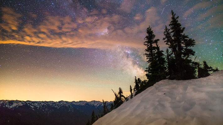 Hurricane Ridge - Olympic National Park - 3 Hour Star Timelapse