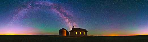 Oregon - Liberty Schoolhouse - and the Milky Way Starscape - 360