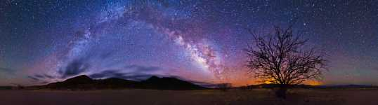 New Mexico - Mogollon Mountains and the Milky Way - 360