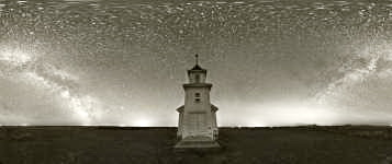 Montana - Bethany Lutheran Church Oilmont and the Night Sky - 360