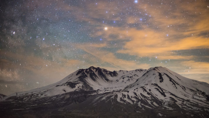 Mount Saint Helens - 3 Hour Milky Way Timelapse