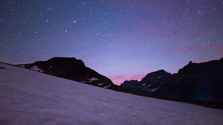Montana - Glacier National Park - Logan Pass at Night