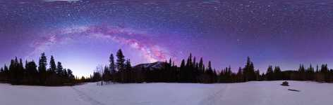 Nevada - Great Basin - A New Day Becoming - Jeff Davis Peak and the Milky Way - 360
