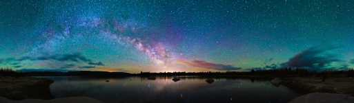Wyoming - New Fork Lake and Milky Way Starscape - 360