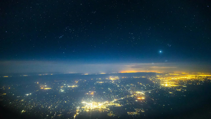 Nevada - Night Flight - Flyover at 30000ft