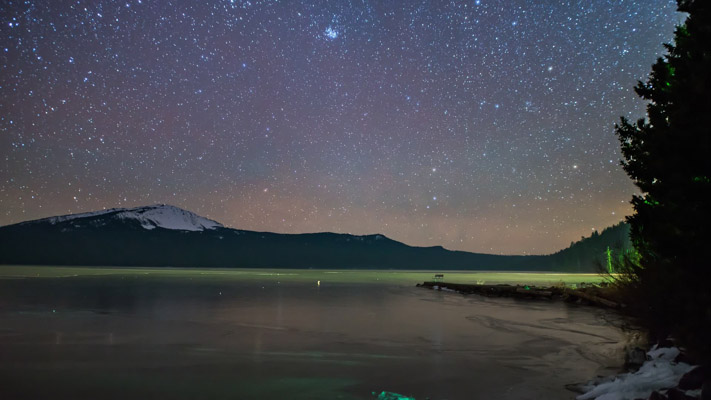 Oregon - Diamond Lake at Night