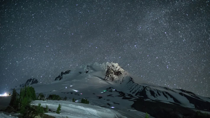Oregon - Mount Hood at Night