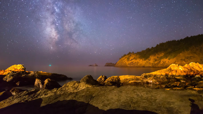 Oregon - Port Orford and the Milky Way Setting