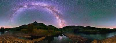 Oregon - John Day River and Sheep Rock Under Milky Way Starscape - 360