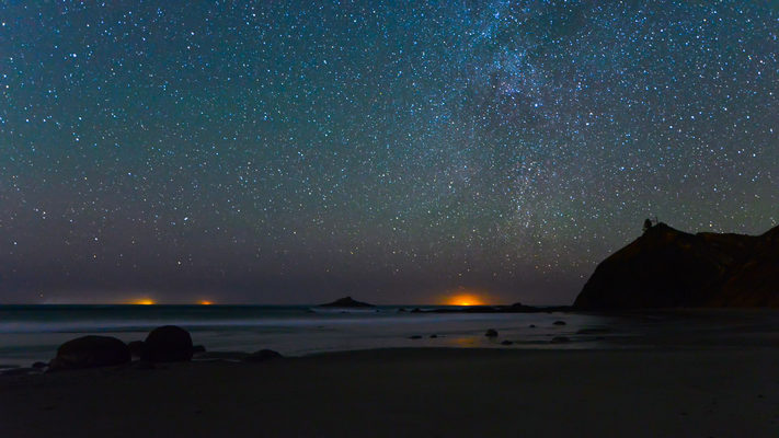 Oregon - Roads End Beach - Ocean Night Timelapse