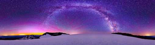 Oregon - South Sister - Summit Starscape - Milky Way and Aurora - 360