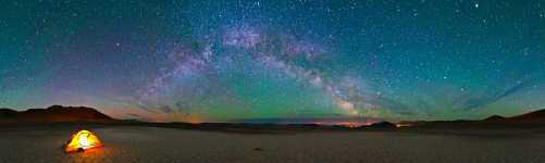 Oregon - Steens Mountain and the Milky Way - Cowboy Camp in the Alvord Desert - 360