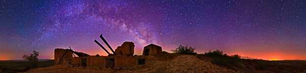 Arizona - Swansea - Copper Smelter Ruins Under the Milky Way - Starscape - 360