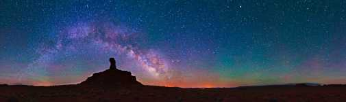 Utah - Valley of the Gods - Rooster Butte and the Milky Way - 360