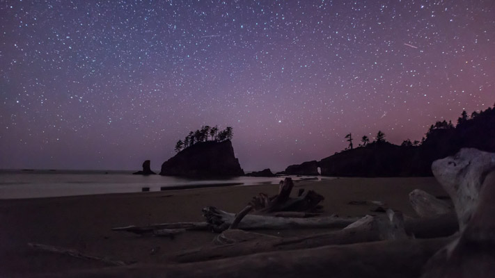 Washington - Second Beach Nightscape