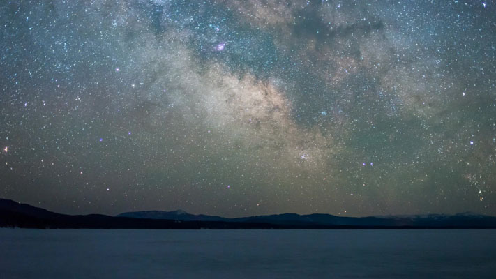Wyoming - Milky Way Over Jackson Lake