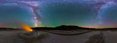 Wyoming - Yellowstone - Biscuit Basin under the Milky Way - 360