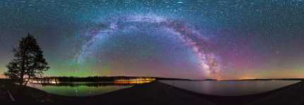 Wyoming - Yellowstone Lake and the Milky Way - 360